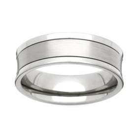 Titanium Concave 6mm Ring