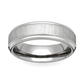 Titanium Flat Linished 6mm Ring