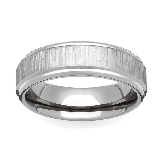 Titanium Flat Linished 6mm Ring