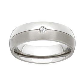 Titanium and Diamond 5mm Ring
