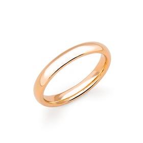 18ct Rose Gold Court Wedding 3mm Ring