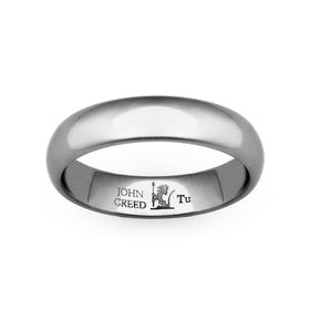 Tungsten Carbide Court Ring