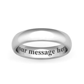 Personalised Engraved Cobalt Court 6mm Ring