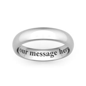 Personalised Engraved Stainless Steel Court 6mm Ring