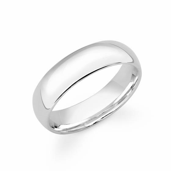 Platinum Court Wedding 6mm Ring