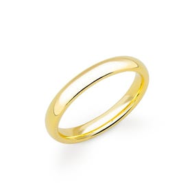 18ct Yellow Gold Court Wedding 2.5mm Ring