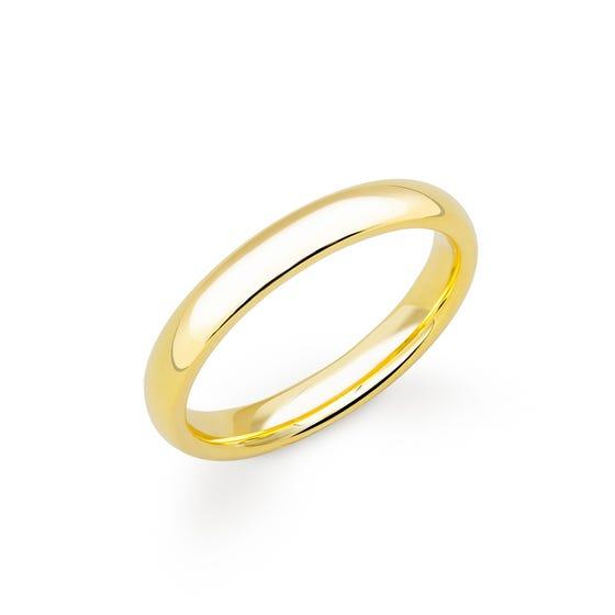 18ct Yellow Gold Court Wedding 4mm Ring