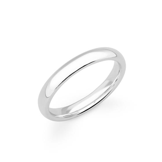 9ct White Gold Court Wedding 2.5mm Ring