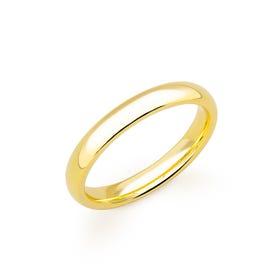 9ct Yellow Gold Court Wedding 4mm Ring