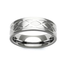 Titanium Celtic Knot Design 7mm Ring