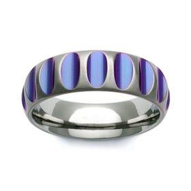 Zirconium Purple Groove 7mm Ring