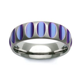 Zirconium Purple Groove 7mm Ring