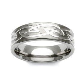 Titanium Celtic Knot Pattern 7mm Ring