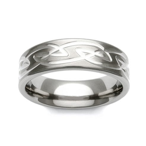 Titanium Celtic Knot Pattern 7mm Ring