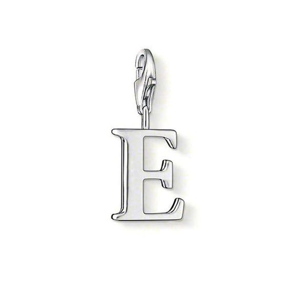 Silver Letter E Charm