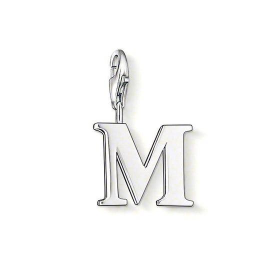Silver Letter M Charm