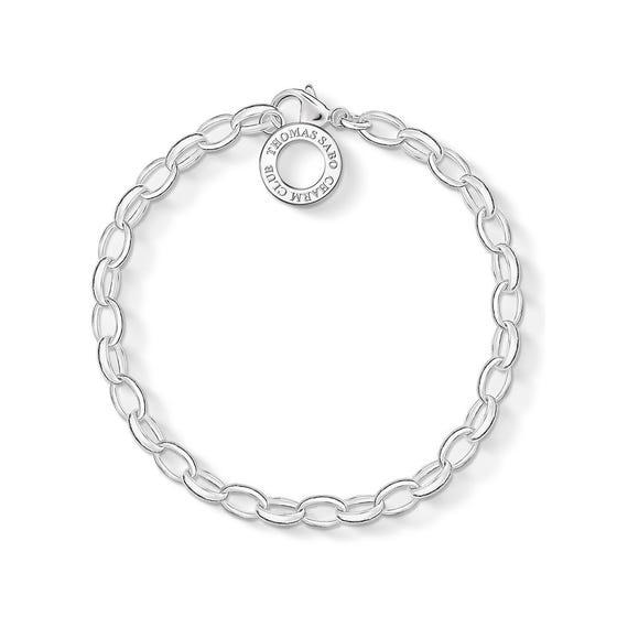 Silver Classic Charm Club Bracelet