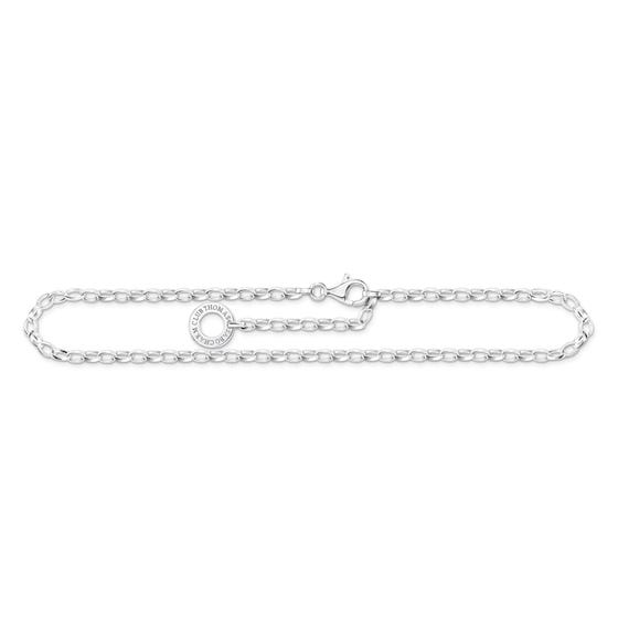 Silver Ankle Chain Charm Carrier Anklet