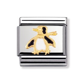 18ct Gold and Enamel Penguin Classic Charm