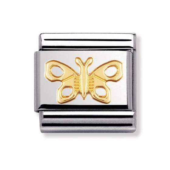 18ct Gold Butterfly Classic Charm