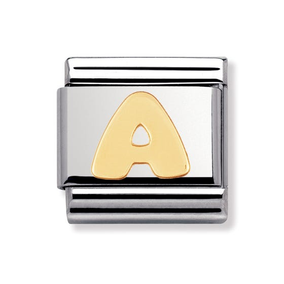 18ct Gold Letter a Classic Charm