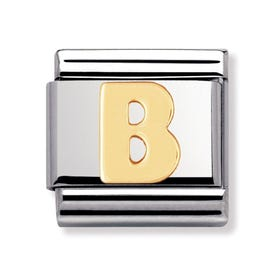 18ct Gold Letter B Classic Charm