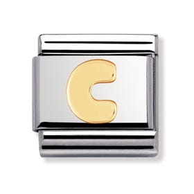18ct Gold Letter C Classic Charm