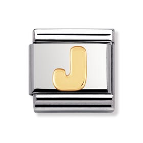 18ct Gold Letter J Classic Charm