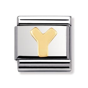18ct Gold Letter Y Classic Charm