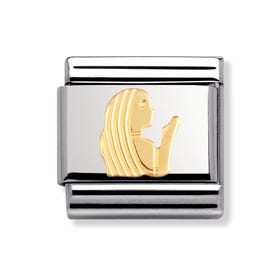 Stainless Steel and 18ct Gold Virgo Classic Charm