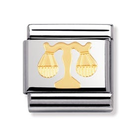 Stainless Steel and 18ct Gold Libra Classic Charm