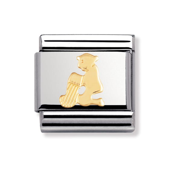 18ct Gold Aquarius Classic Charm