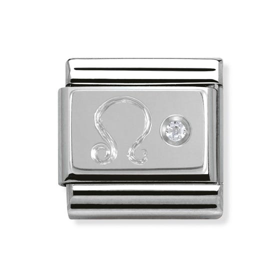 Silver and Cubic Zirconia Leo Classic Charm
