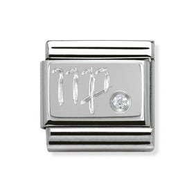 Silver and Cubic Zirconia Virgo Classic Charm