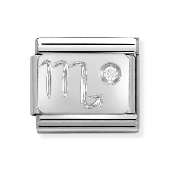 Silver and Cubic Zirconia Scorpio Classic Charm