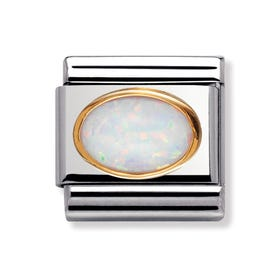 18ct Gold & Opal October Birthstone Classic Charm