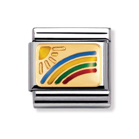 18ct Gold and Enamel Rainbow Classic Charm