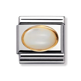 18ct Gold and White Mother of Pearl Classic Charm