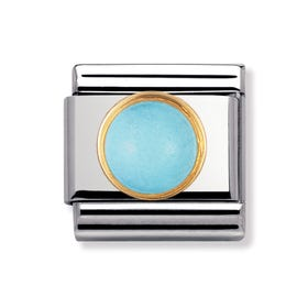 18ct Gold & Turquoise December Birthstone Charm