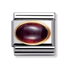 18ct Gold & Garnet January Birthstone Charm