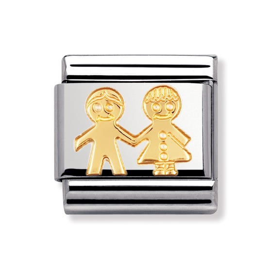 Stainless Steel and 18ct Gold Children Classic Charm