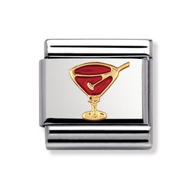 18ct Gold and Enamel Cocktail Classic Charm