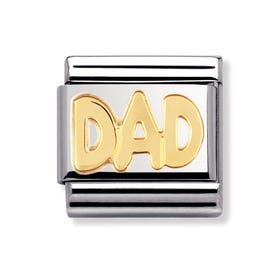 Classic Gold DAD Charm