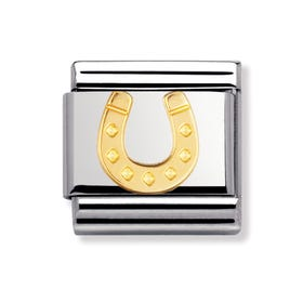 18ct Gold Danish Horseshoe Classic Charm