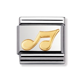 18ct Gold Music Note Classic Charm
