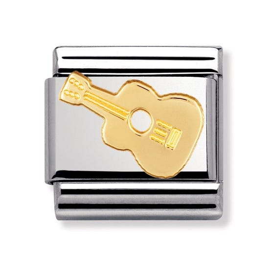 18ct Gold Guitar Classic Charm