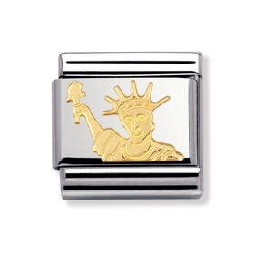 18ct Gold Statue of Liberty Classic Charm
