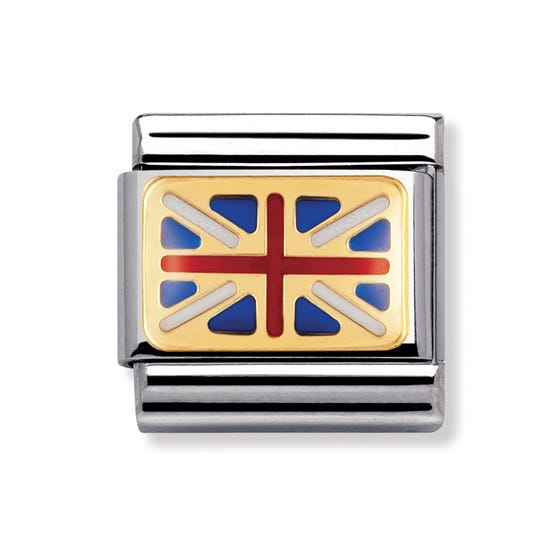 18ct Gold and Enamel Great Britain Classic Charm
