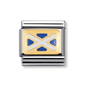 18ct Gold and Enamel Scotland Classic Charm