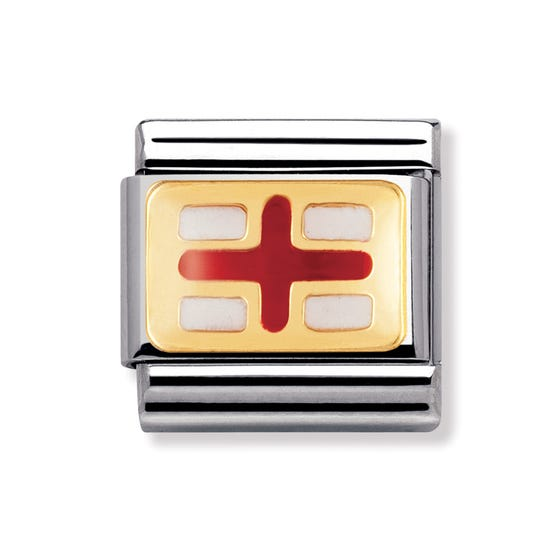 18ct Gold and Enamel England Classic Charm